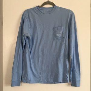 Vineyard Vines Baby Blue Long Sleeve Shirt